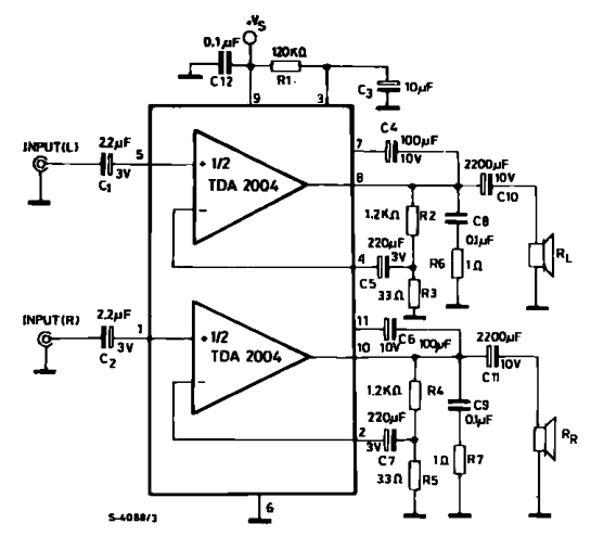stereo audio amplifier dengan tda 2004