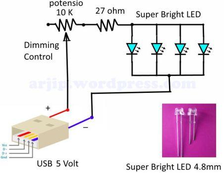membuat lampu LED
