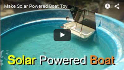 Membuat Solar Powered Boat Toy