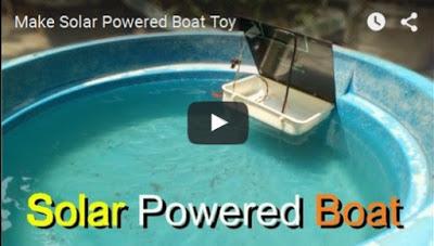 Membuat Solar Powered Boat Toy