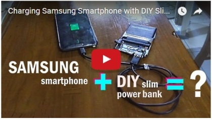 What happens if Samsung phone is charged with DIY portable charger?